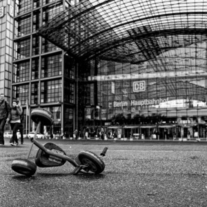 Abandoned Tricycle Berlin | Fuji 23mm F2 Asph (X100) <br> Click image for more details, Click <b>X</b> on top right of image to close