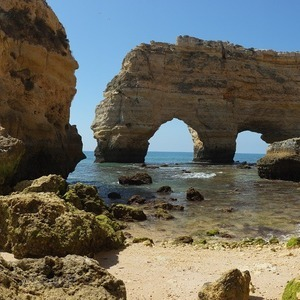 Praia da Marinha | Fuji 23mm F2 Asph (X100) <br> Click image for more details, Click <b>X</b> on top right of image to close