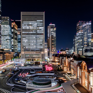 Photo: Tokyo station  night view