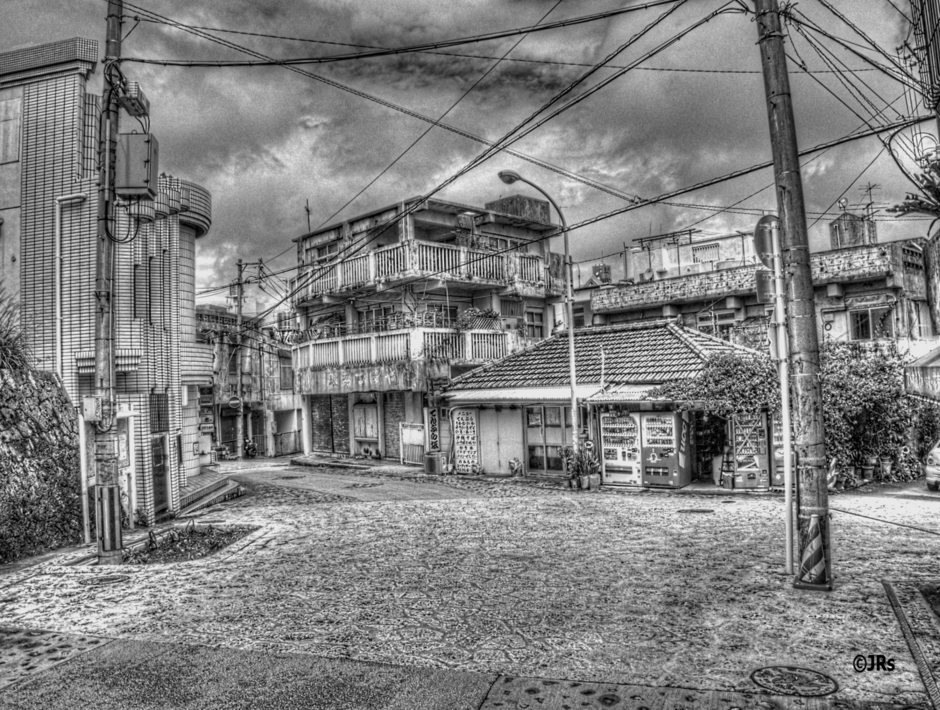 Naha City black and white | Lens model not set <br> Click image for more details, Click <b>X</b> on top right of image to close