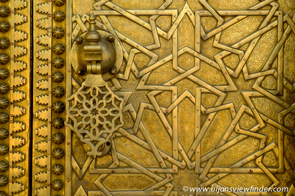 Brass Door with Arabesque Pattern | Fuji 35mm f/1.4 <br> Click image for more details, Click <b>X</b> on top right of image to close
