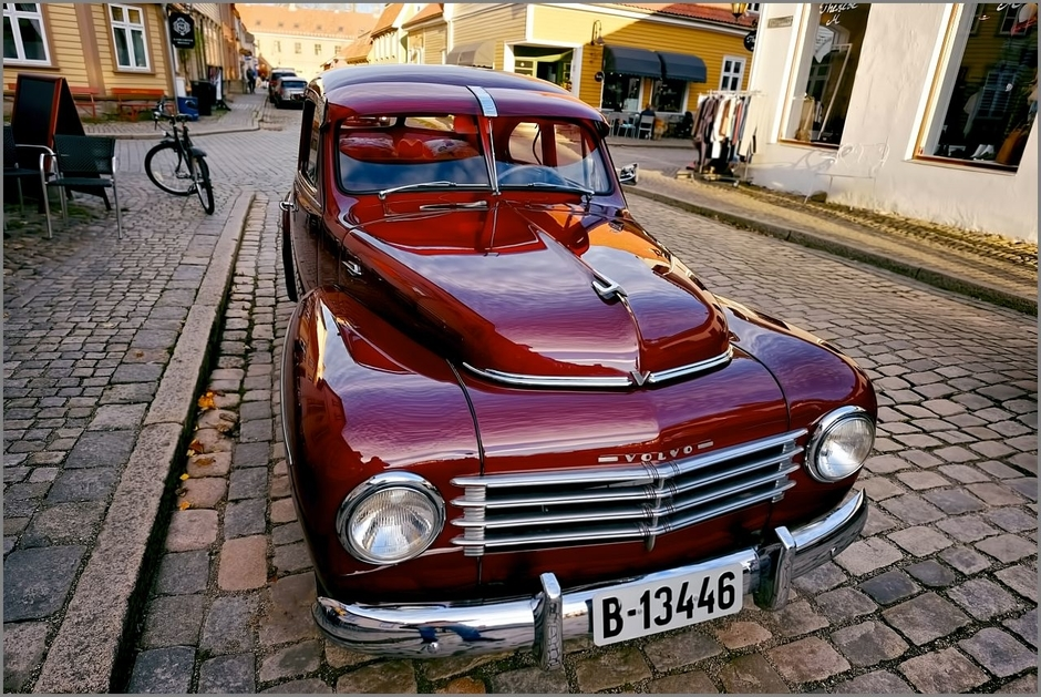 Volvo PV 444 | Fuji 14mm f/2.8 <br> Click image for more details, Click <b>X</b> on top right of image to close