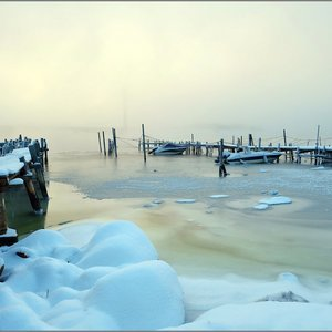 Fog Over Ice | Fuji 14mm f/2.8 <br> Click image for more details, Click <b>X</b> on top right of image to close